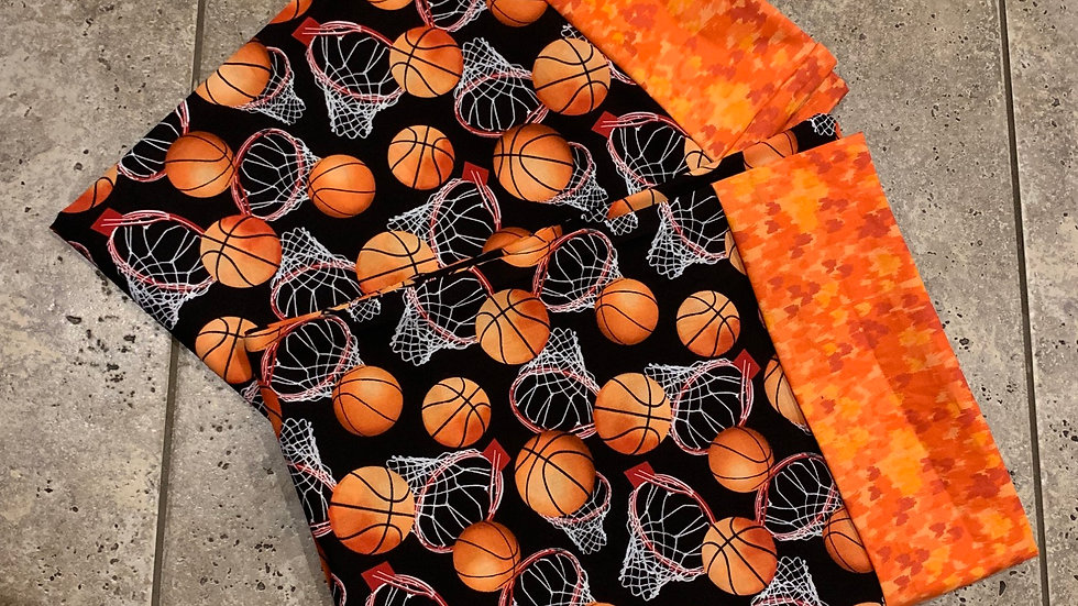 Basketball standard pillowcase set - Name embroidery available