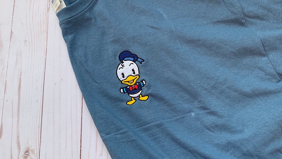 Donald Duck embroidered t-shirt or Tank top