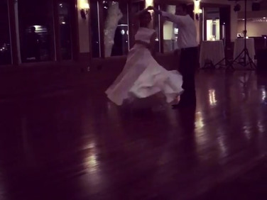 The first dance with Marty and Ellyse wa