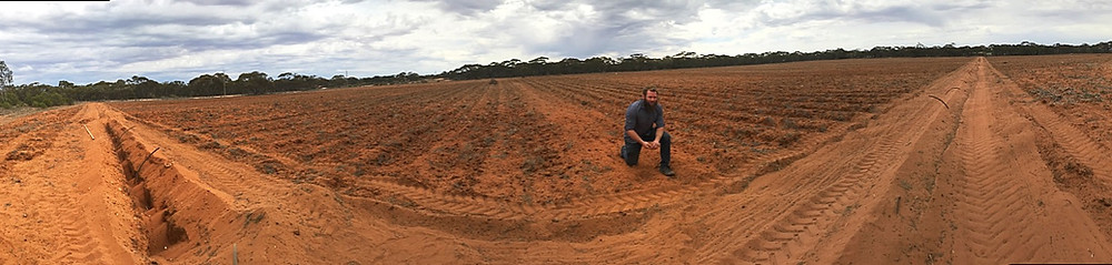 Dominic Smith of Pundi survey new irrigation works funded by the Foundation
