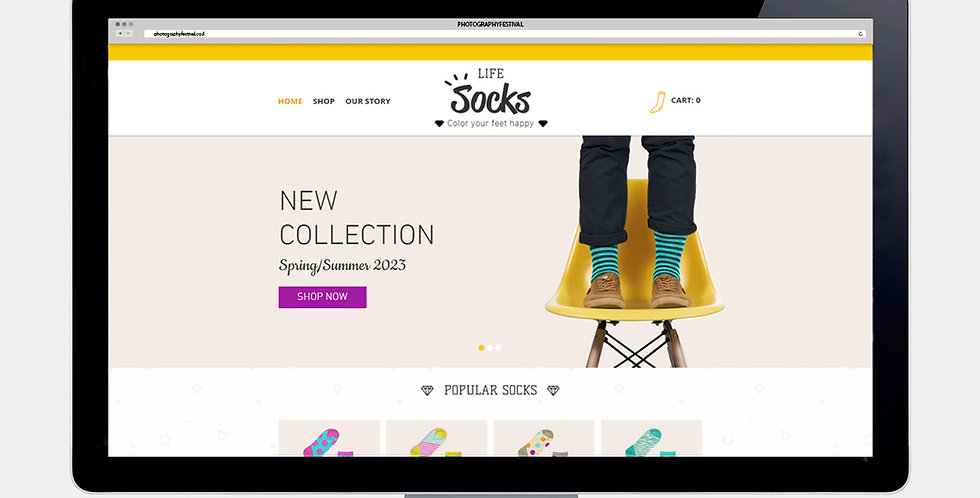 Wix Home Page Design
