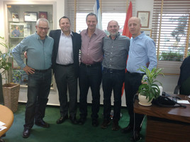 The ILTH Team met today with Mayor of Ra'anana