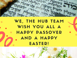 We wish you a Happy Passover and Happy Easter!