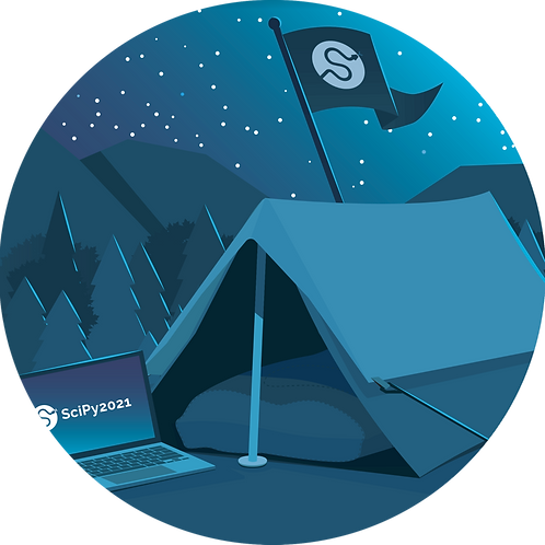 SciPy 2021 Glamping Sticker