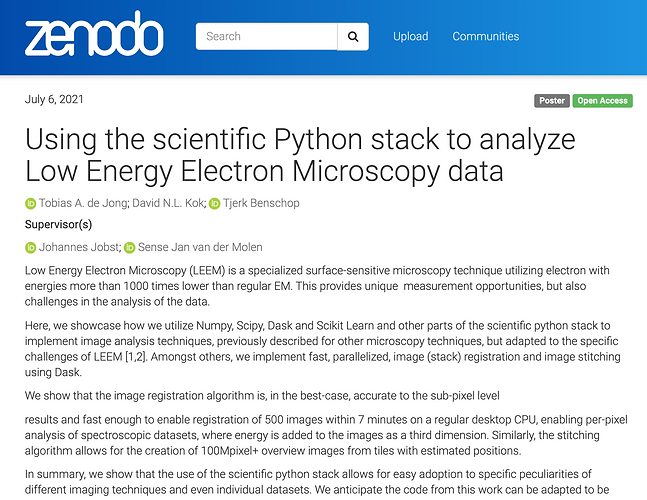 64 - Using the scientific Python stack to analyze Low Energy Electron Microscopy data.png