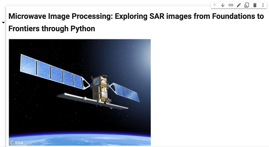 52- Microwave Image Processing Exploring SAR images from Foundations to Frontiers through