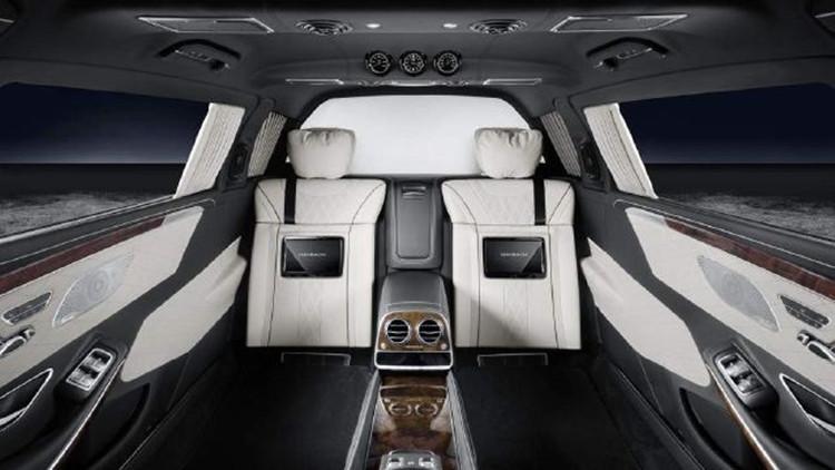Mercedes Maybach S600 Pullman Guard Interior