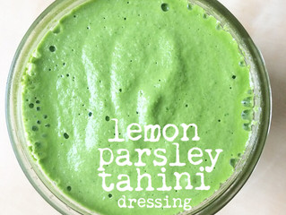 lemon parsley tahini dressing... yum!