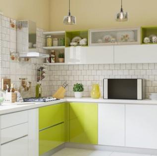 Pop Blast L-Shaped Modular Kitchen