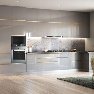 Subtle Shine Straight Kitchen