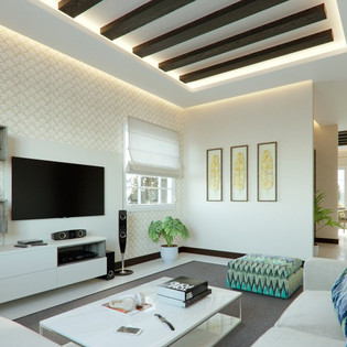 Wall Mounted TV unit design by Classic Infrahomes