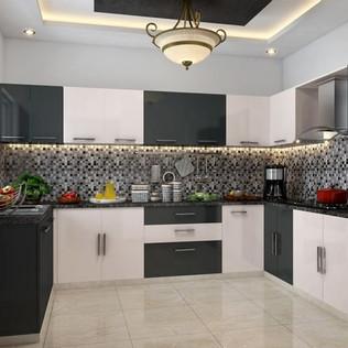 Yin Yang U-Shape Modular Kitchen