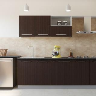 Laminate Matte Parallel Modular Kitchen Design