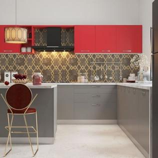 L-Shaped Modular Kitchen