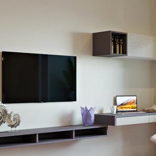 Entertainment Unit with a Modern Study corner
