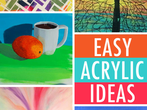 10 SuperEasy Painting Ideas All Acrylic Painters Should Try