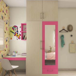 Pink panache Hinged Wooden Wardrobe
