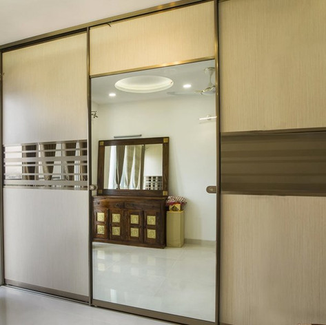 Reflections Galore Straight Wardrobe Designs India | Classic Infrahomes