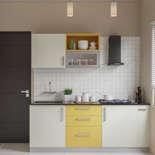 Smart Straight Modular Kitchen Design