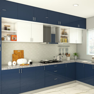 French Themed Modular Kitchen Designs
