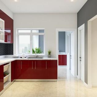 Sia L-Shaped Kitchen
