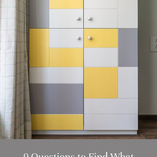 Yellow & White Modular Wardrobe Design for Your Bedroom