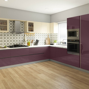 Purple Passion Straight Kitchen