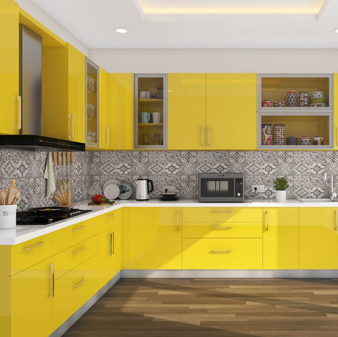 L-Shaped Modular Kitchen Design