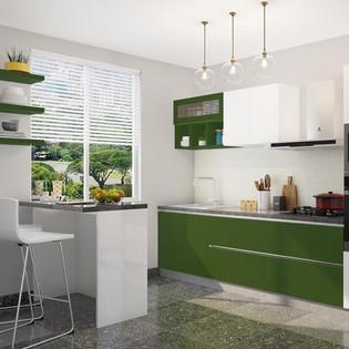 Nature Bliss Straight Modular Kitchen Design
