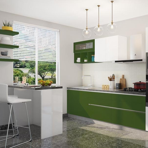 Nature Bliss Straight Modular Kitchen Design