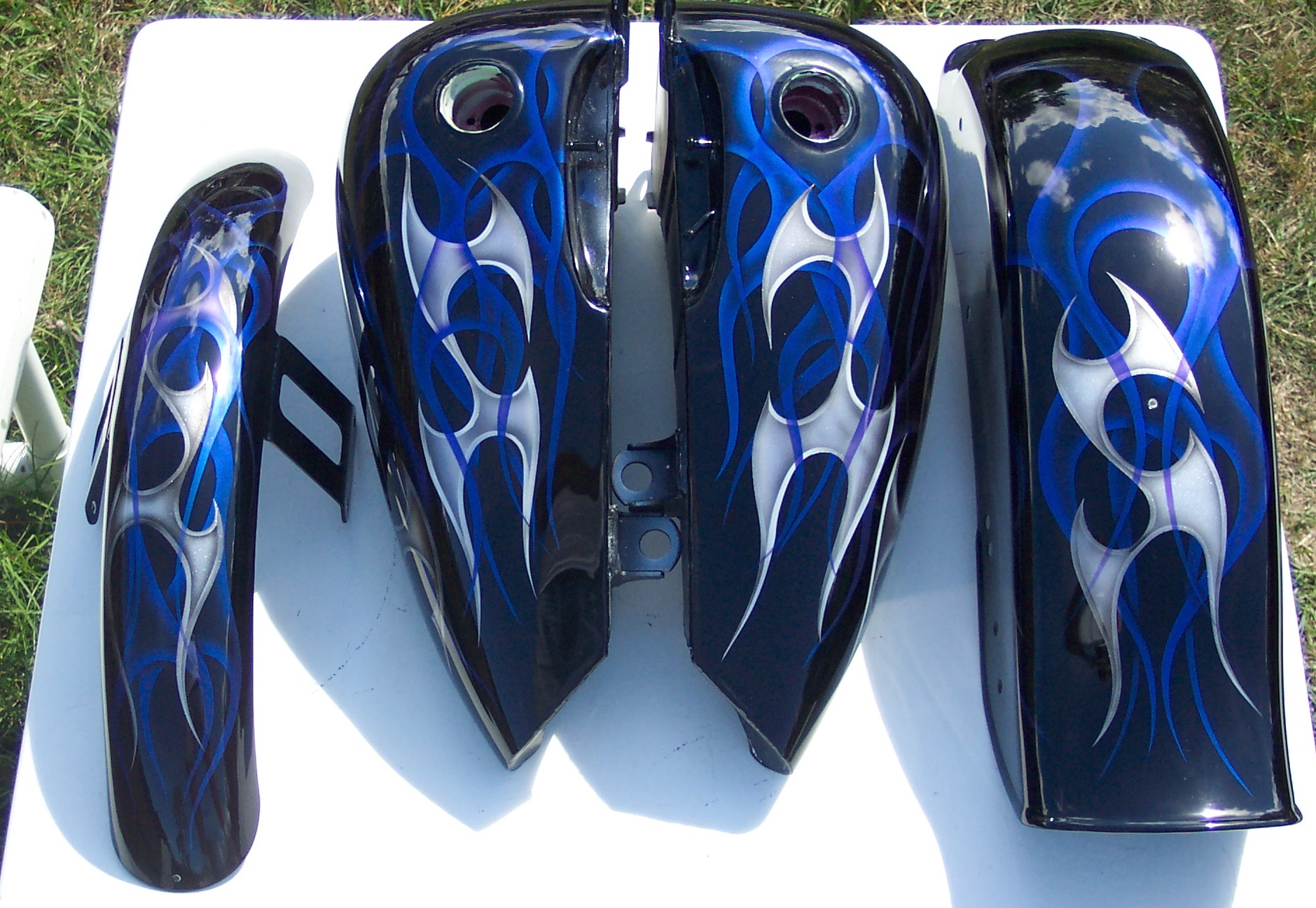 Harley-Davidson Blue Tribal Set