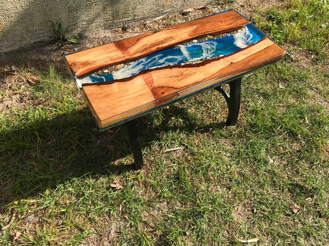 Pecan River Pour Coffee Table
