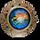 Thumbnail: Porthole Round Decorative with Sailfish and Sailboat at Sunrise