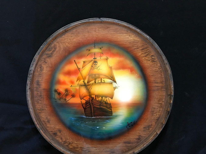 Barrel Top Pirate Table