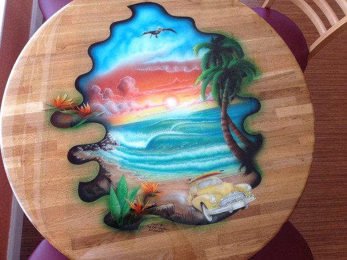 Restaurant Bistro Style Oak Tables