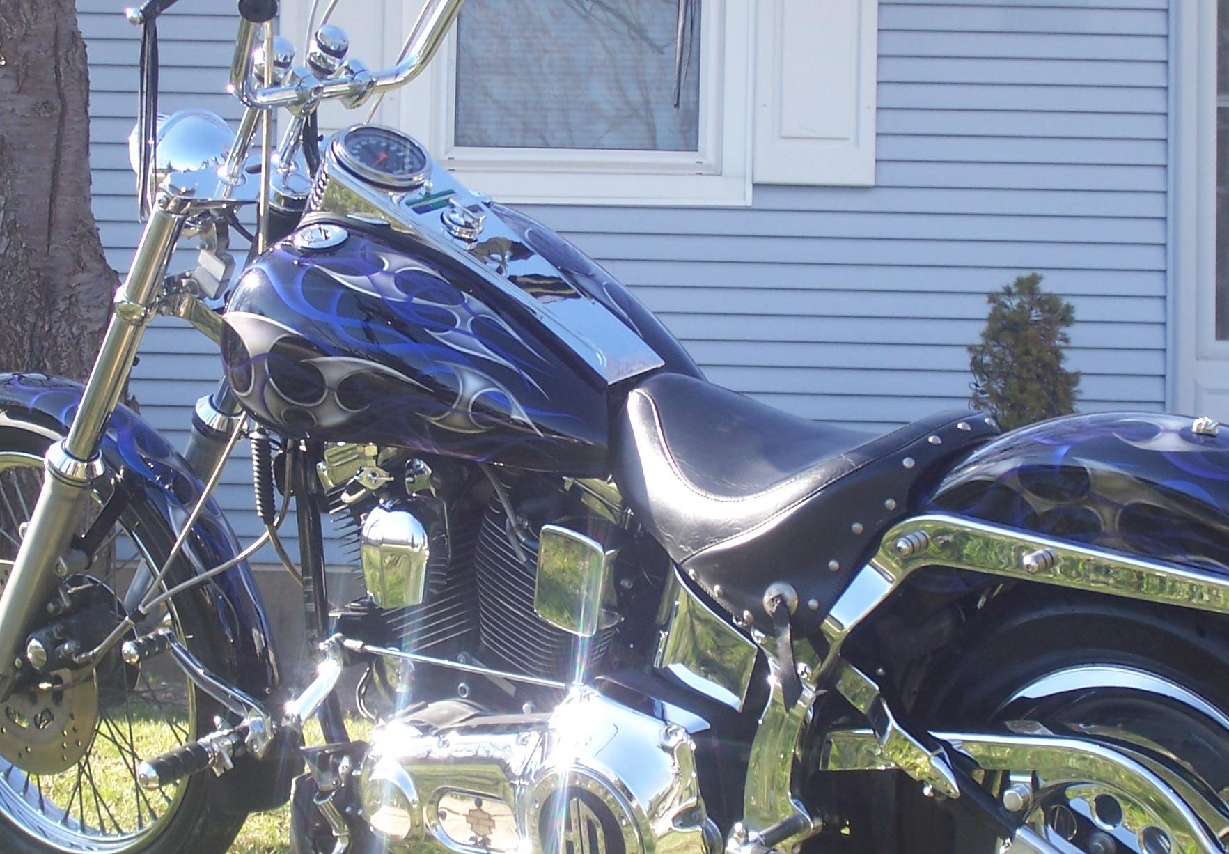 Harley-Davidson with Blue Tribal