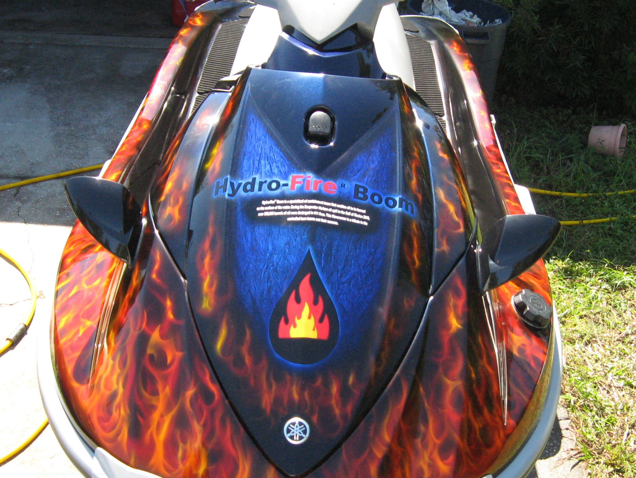 Close up of Wave Runner with Flames