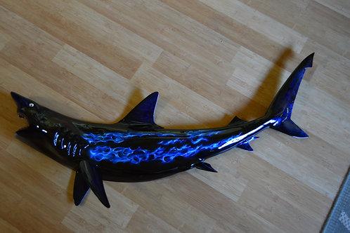 Black-Tip Shark with Blue Flames