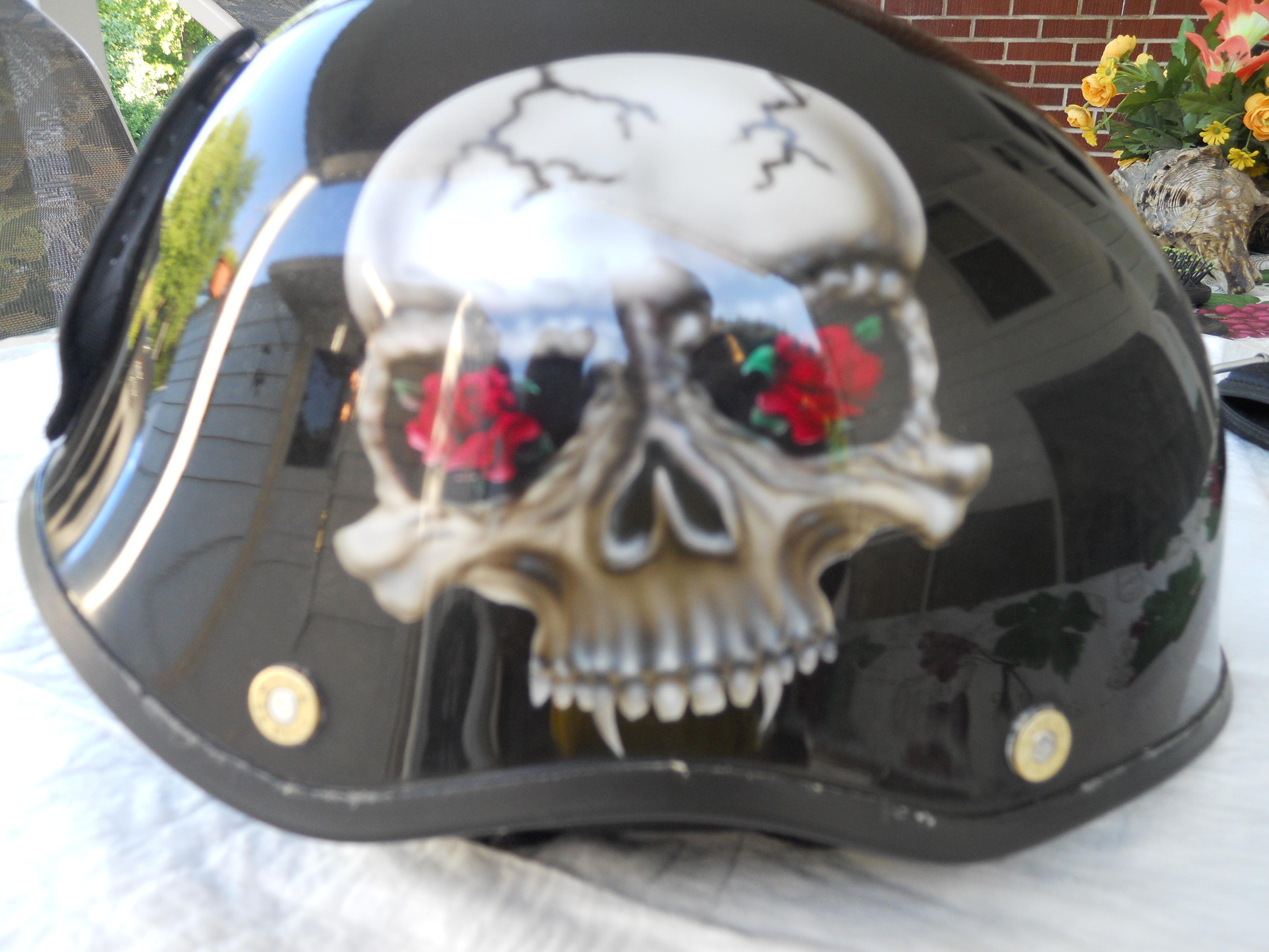 Motorcycle-Helmet-skull