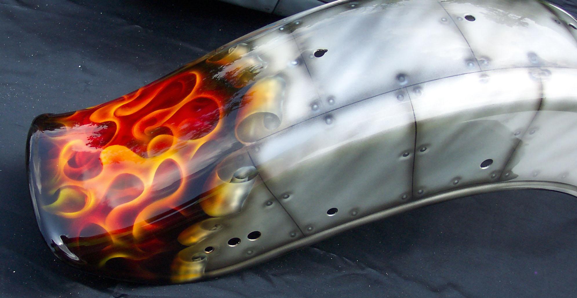 Harley-Davidson-Bomber-Metal-Panel-Bomber-True-Flames-Fender