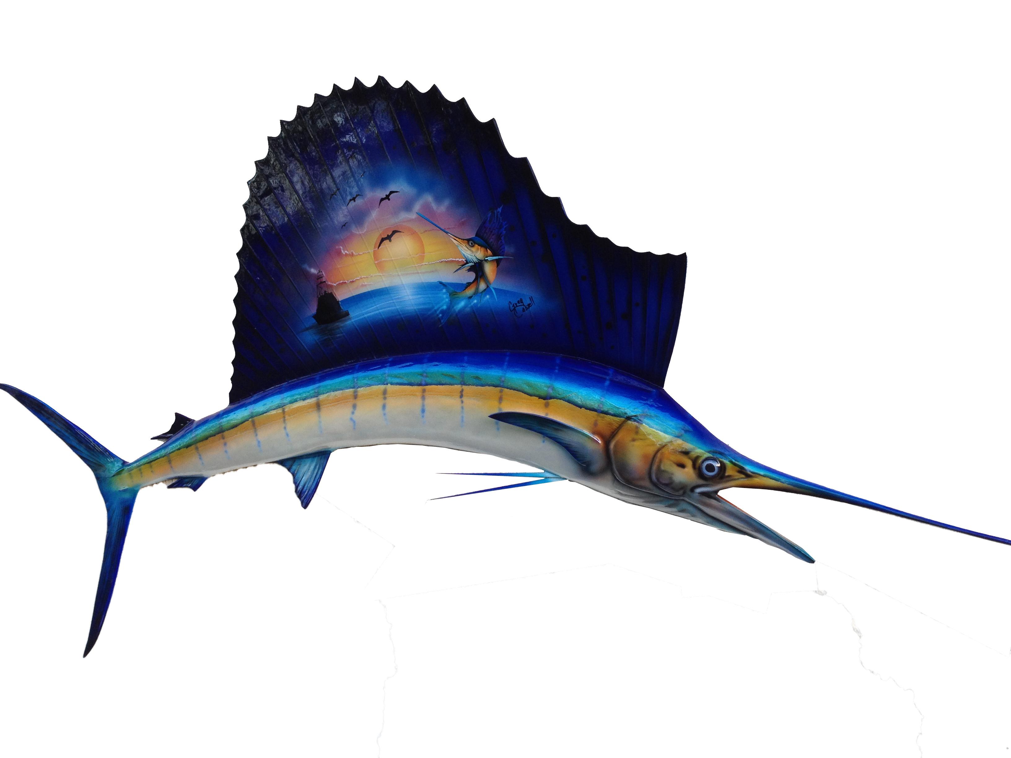 FISH-MOUNT-SAILFISH-MURAL-FIBERGLASS-TAXIDERMY-FISHMOUNT
