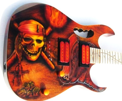 Guitar-Greg-Cassell-Ibanez-Pirate-Skull-crossbones-jolly-roger- (5)