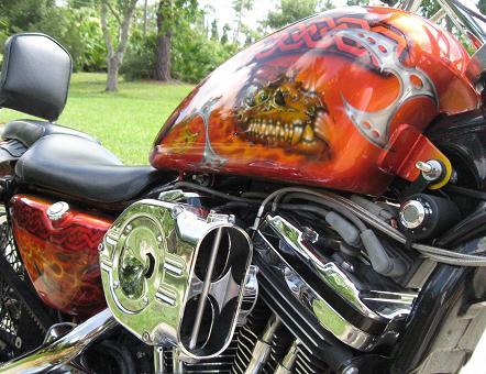 Harley-Davidson-Fantasy-True-Flame-Dragon-Skull-2