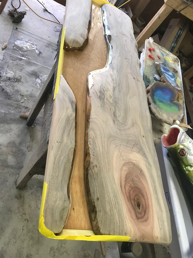 Camphor Inlay Table