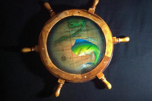 Captain's Wheel with Mahi and the Keys