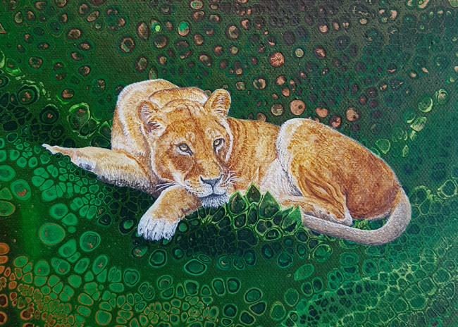 Leafy Lioness