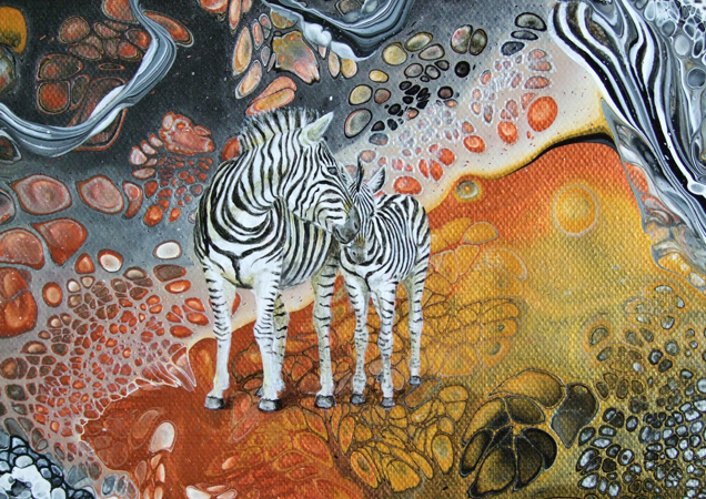 Zebra Dreaming Detail