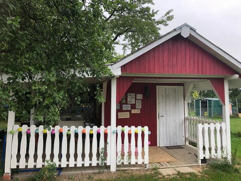 Hütte mit Veranda