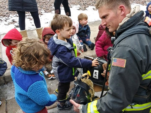 Community Helpers Visit Tiny Hearts