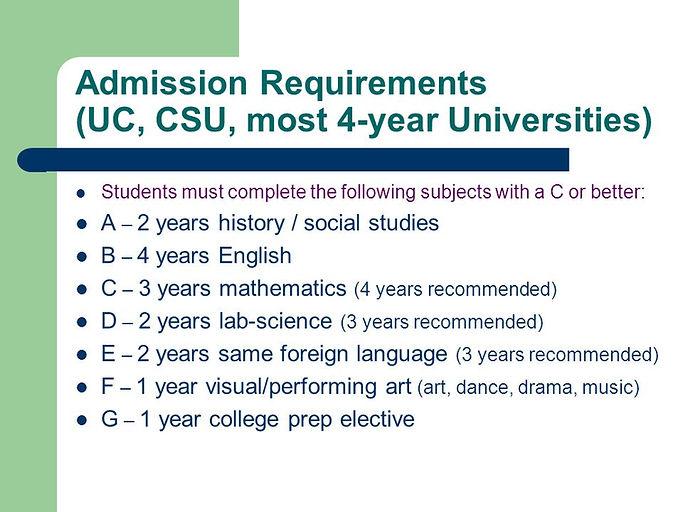 Admission+Requirements+(UC,+CSU,+most+4-